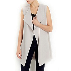 Wallis - Petite grey sleeveless jacket