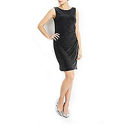 Wallis - Petite sparkle ruche dress