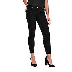 Wallis - Ellie black let down hem jeans