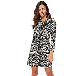 Wallis - Petite neutral leopard print shift dress