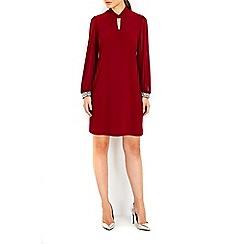 Wallis - Petite plum embellished shift dress