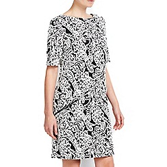 Wallis - Petite monochrome jacquard dress