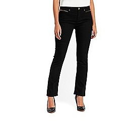 Wallis - Black harper straight jeans