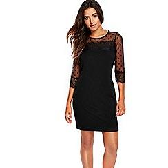 Wallis - Petite black lace shift dress