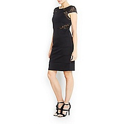 Wallis - Petite black lace bandage dress