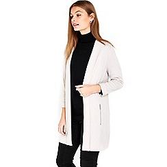 Wallis - Taupe stone longline jacket