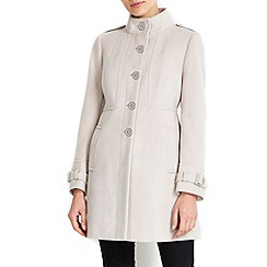 Wallis - Petite stone funel neck coat