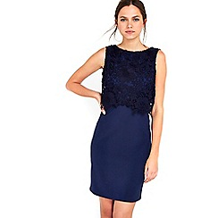 Wallis - Petite Navy Lace Top Dress