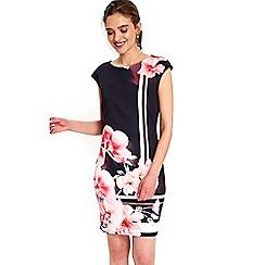 Wallis - Petite floral stripe dress