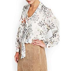 Wallis - Woodland floral pussybow blouse