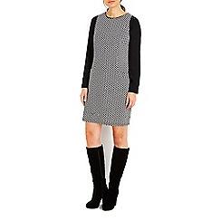 Wallis - Petite monochrome pinny dress