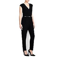 Wallis - Petite v neck belted jumpsuit