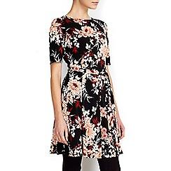 Wallis - Petite black fit and flare dress