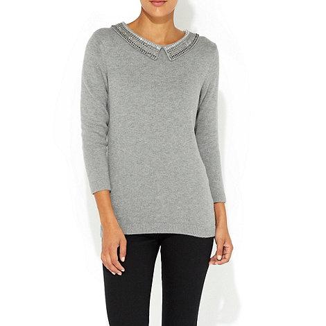 Wallis - Grey embellished petite jumper
