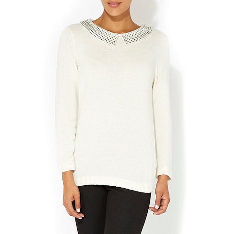 Wallis - White embellished petite jumper