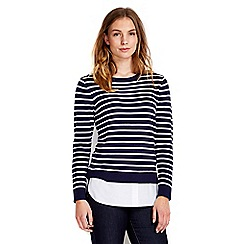 Wallis - Petite navy stripe 2in1 jumper