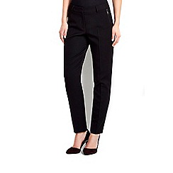 Wallis - Petite black flood trousers