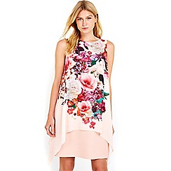 Wallis - Petite floral overlay dress