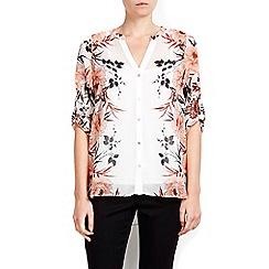Wallis - Petite white mirror blouse