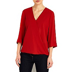 Wallis - Petite rose wrap top