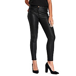 Wallis - Black coated skinny jeans