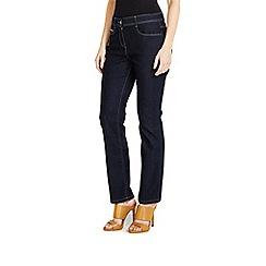 Wallis - Petite indigo straight leg jean