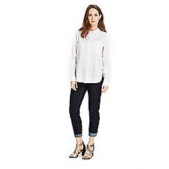 Wallis - Petite indigo roll up jean