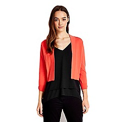 Wallis - Petite coral bow back shrug
