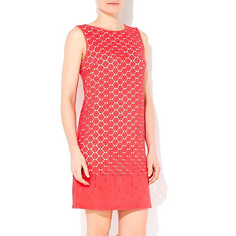 Wallis - Coral petite crochet dress