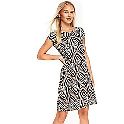 Wallis - Petite stone tribal geometric print swing dress