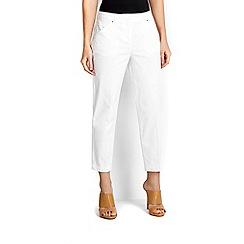 Wallis - Petite white crop trouser
