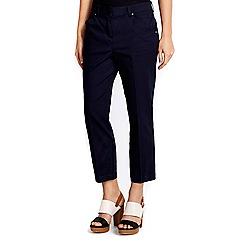 Wallis - Petite navy crop trouser