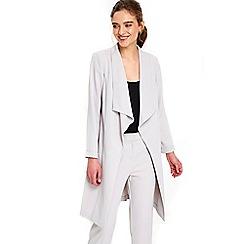 Wallis - Petite silver duster jacket