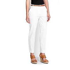 Wallis - Petite white cigarette trouser