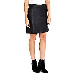 Wallis - Petite black a-line skirt