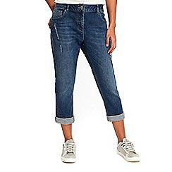 Wallis - Petite midwash esther girlfriend jeans