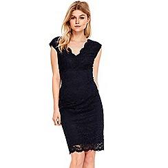 Wallis - Petite navy lace dress