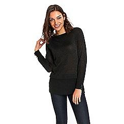 Wallis - Petite black layered top