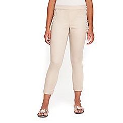 Wallis - Petite stone capri trousers