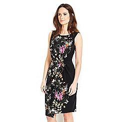 Wallis - Petite black palm print dress