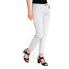 Wallis - Petite grey cigarette trousers