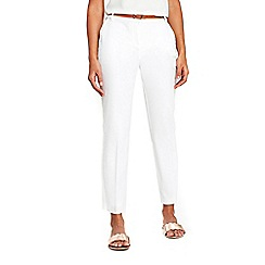 Wallis - Petite white cigarette trousers