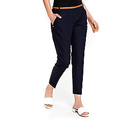 Wallis - Petite navy cigarette trousers