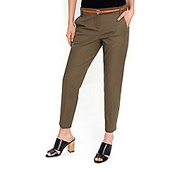 Wallis - Petite khaki cigarette trousers