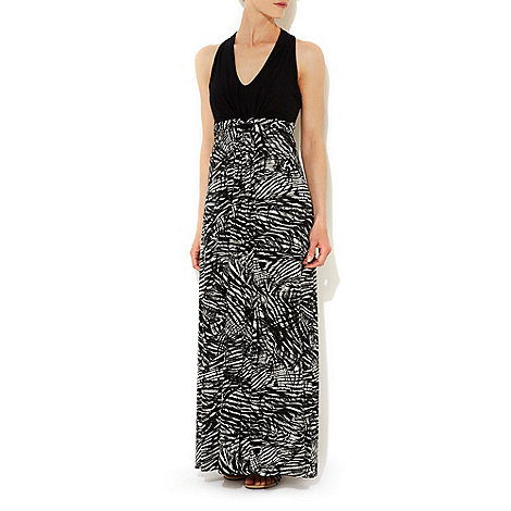 Wallis - Mono feather maxi dress