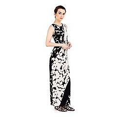 Wallis - Petite monochrome floral maxi dress