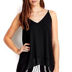 Wallis - Petite black double layer camisole