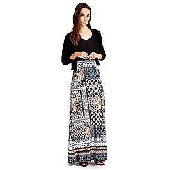 Wallis - Petite patchwork print maxi skirt