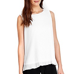Wallis - Petite ivory pleat shell top