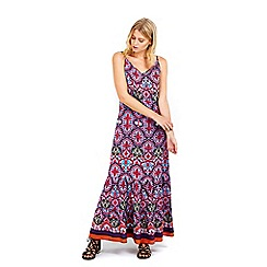 Wallis - Petite printed maxi dress